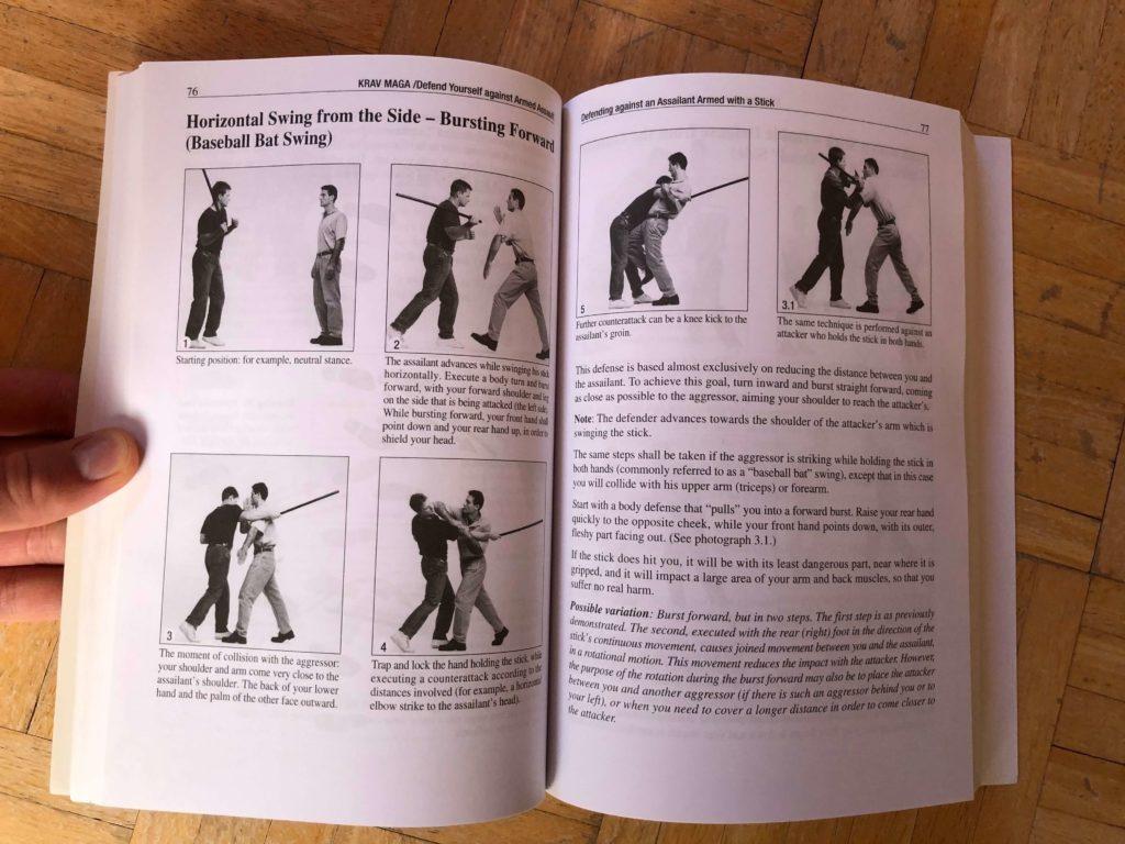 Verteidigung gegen einen horizontalen Stockangriff